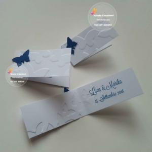 Bigliettino bomboniera originale con farfalla