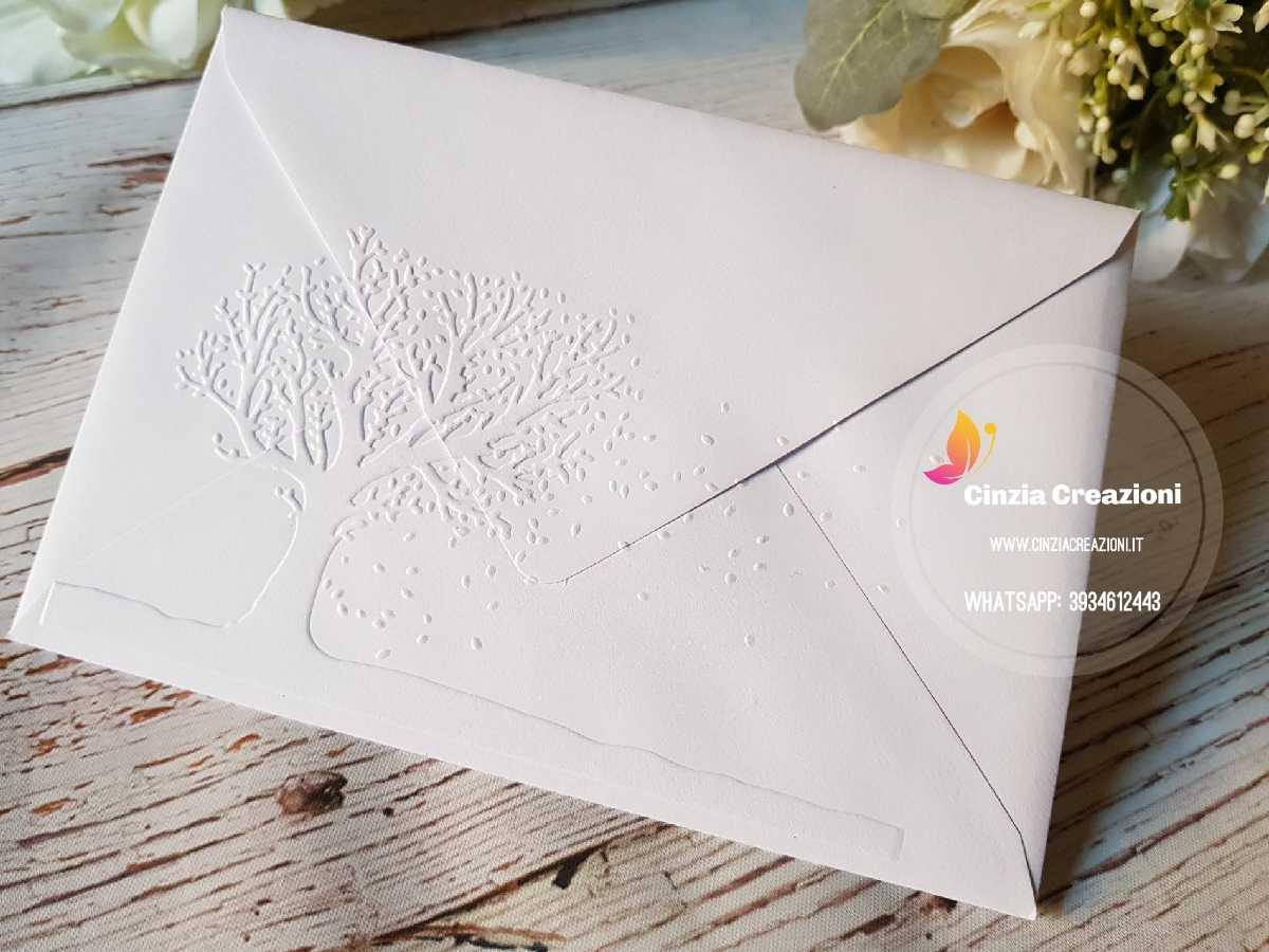Matrimonio Tema Albero : Invito nozze albero vita pe stampa e busta cinzia creazioni