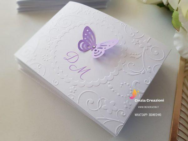 Inviti battesimo economici Farfalla