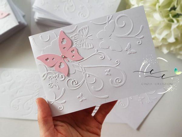 Inviti battesimo farfalla