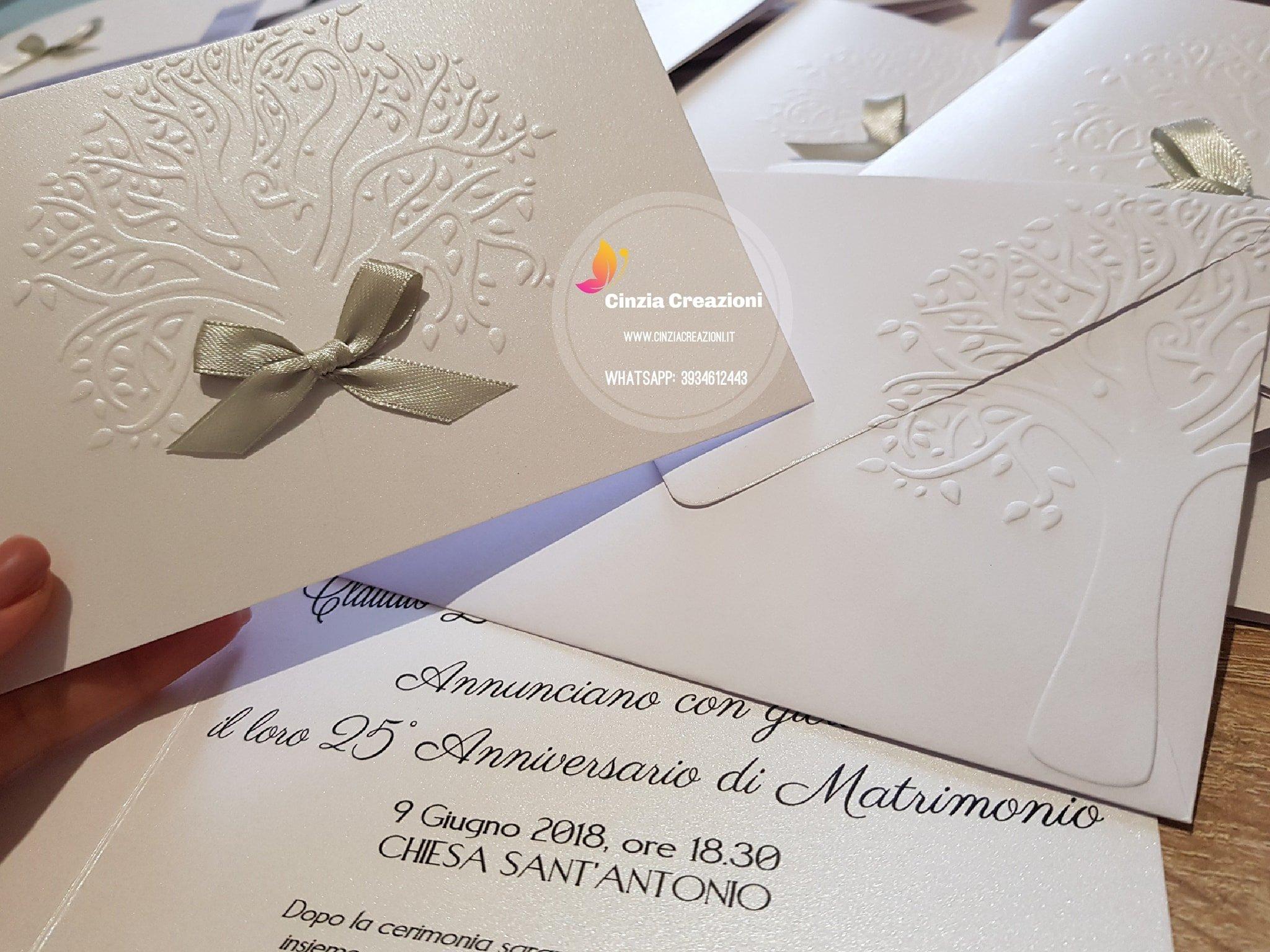 Matrimonio Tema Albero : Partecipazione albero fiocco pm cinzia creazioni