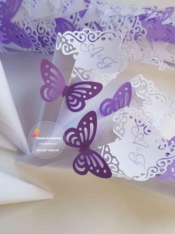 coni portariso tema farfalla