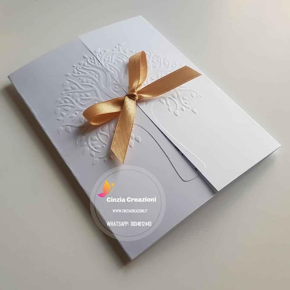Partecipazioni Matrimonio Albero Della Vita.Invito Nozze Albero Della Vita Ante Pm005 Cinzia Creazioni