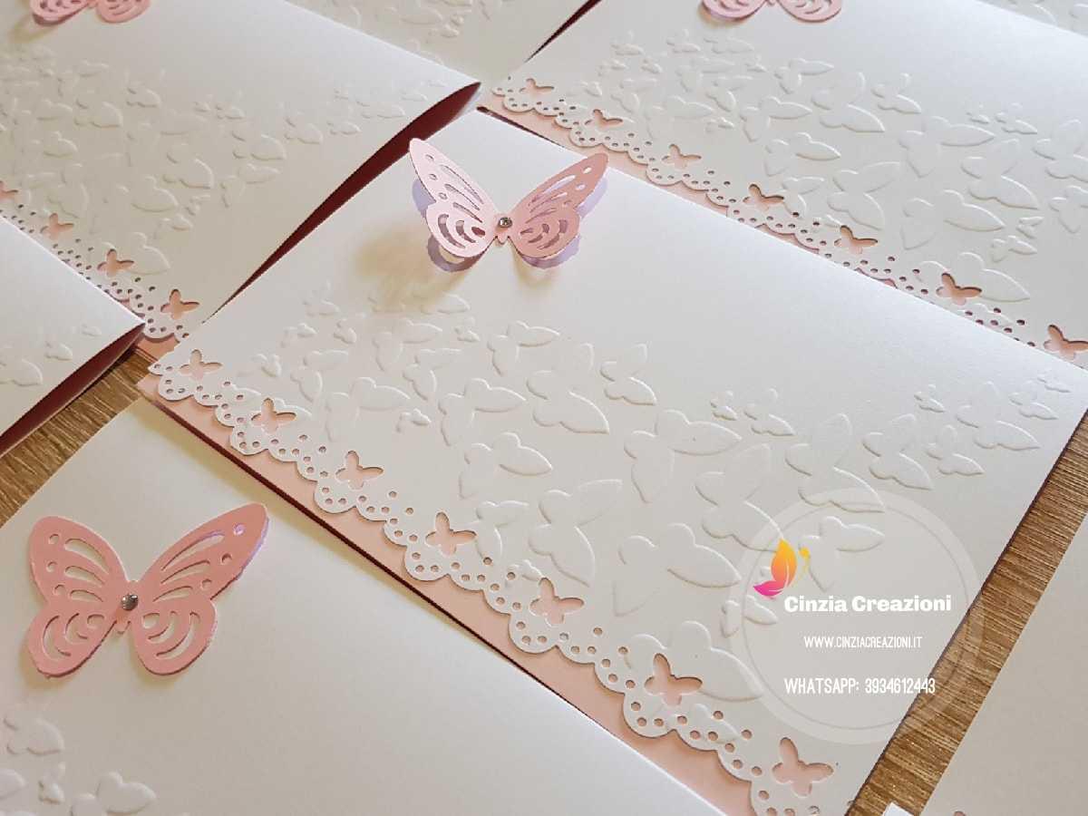 Partecipazioni Matrimonio Farfalle.Invito Nozze Farfalla Pm017 Con Busta E Stampa Cinzia Creazioni
