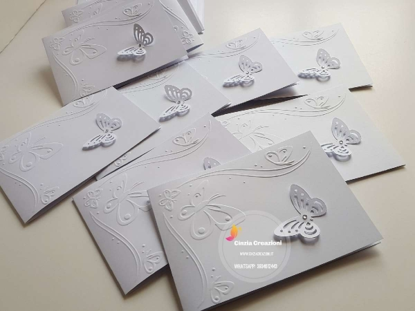 invito nozze farfalle