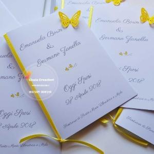 libretto messa con farfalla