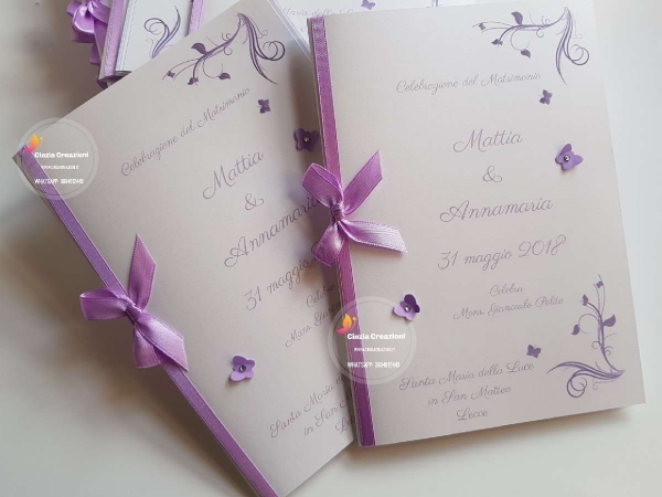 libretto messa con farfalle