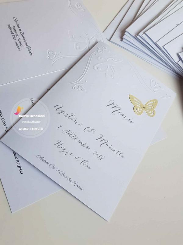 menu matrimonio economico farfalla