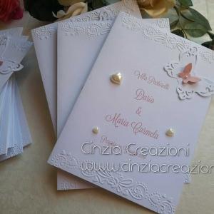 menu matrimonio farfalla Cuori