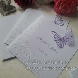 menu matrimonio farfalla lilla
