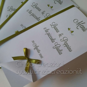 menu matrimonio originale