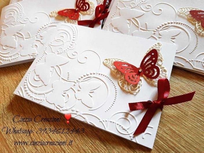 Partecipazione Farfalla elegante