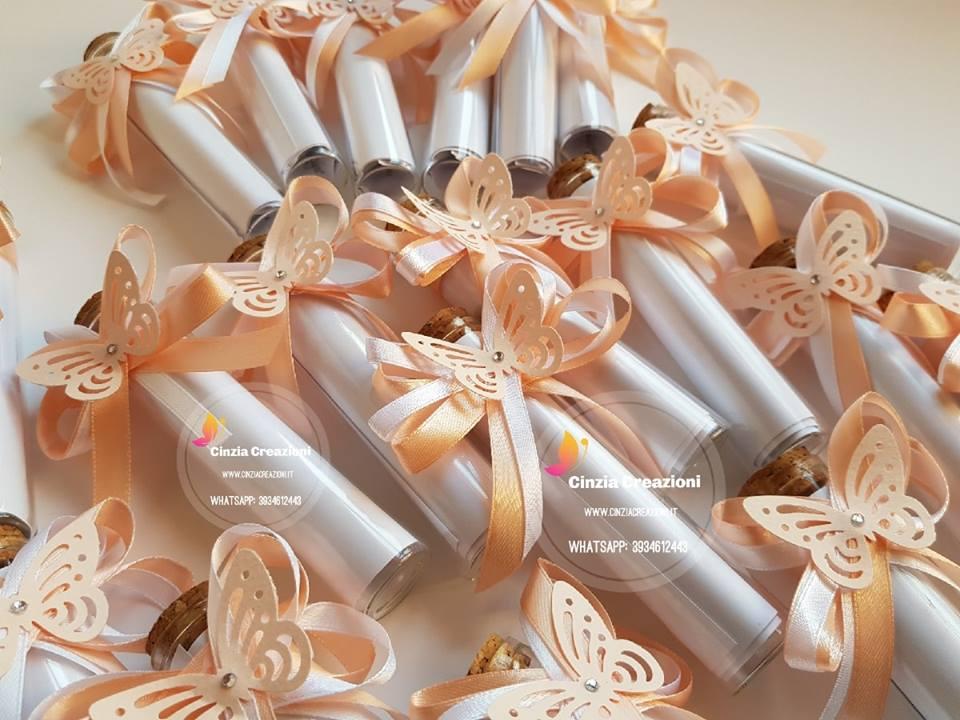 Partecipazioni Matrimonio Bottiglia.Partecipazione Bottiglia Farfalla Pm012 Cinzia Creazioni