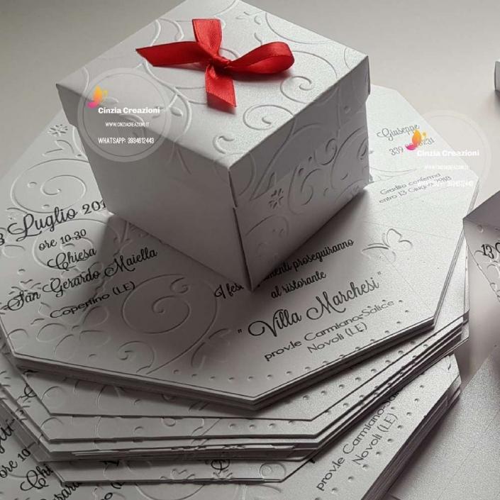 partecipazione matrimonio scatola