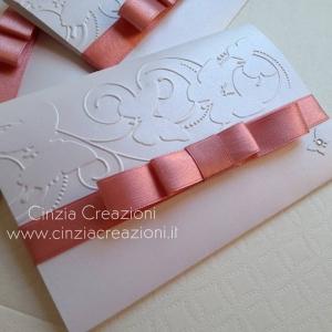 partecipazione nozze farfalla elegante