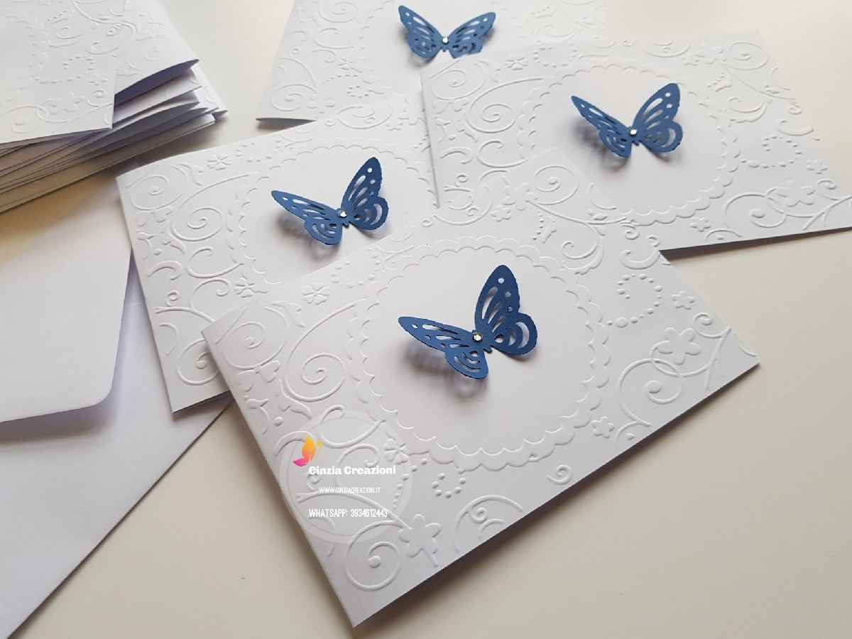 Partecipazioni Matrimonio Farfalle.Partecipazioni Matrimonio Farfalle Pe024 Cinzia Creazioni