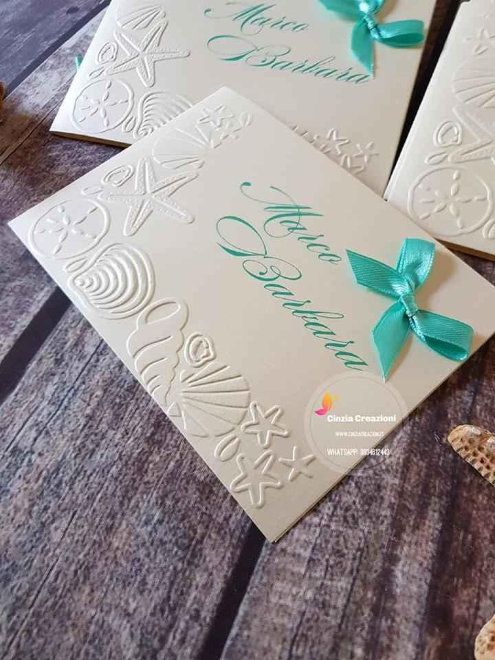 Partecipazioni Matrimonio Tiffany On Line.Partecipazione Conchiglie Stella Marina Pm034 Cinzia Creazioni