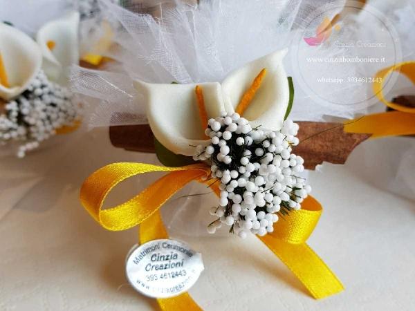 porta confetti matrimonio calle cannella