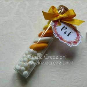 porta confetti matrimonio provetta tag personalizzata PCM046
