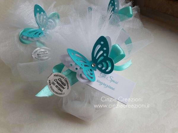portaconfetti matrimonio farfalla