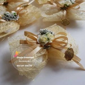 portaconfetti matrimonio rustici con fiorellini