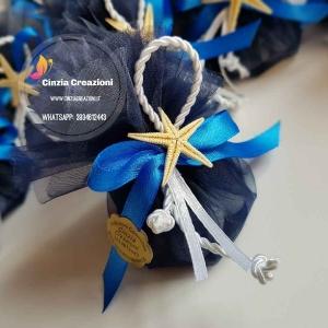 portaconfetti matrimonio tema mare stella marina