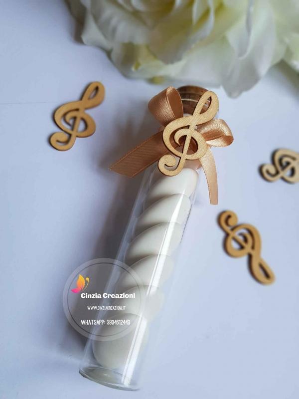 portaconfetti matrimonio tema musica