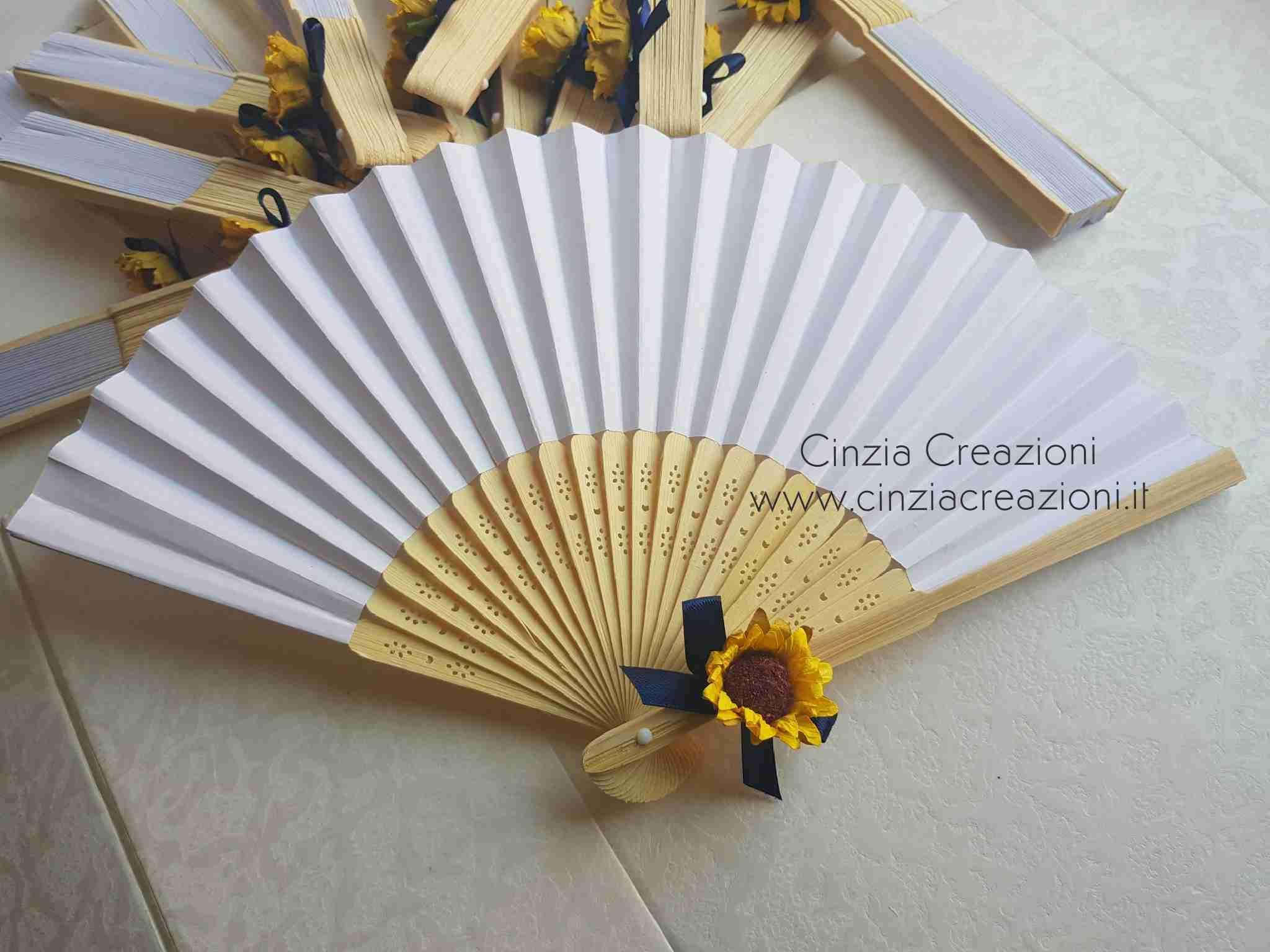 Partecipazioni Matrimonio Con Girasoli : Ventagli matrimonio tema girasole vm007 cinzia creazioni