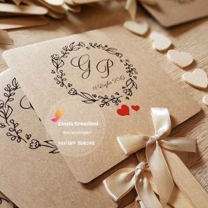 ventaglio matrimonio shabby cuore