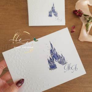 Partecipazione matrimonio castello disney