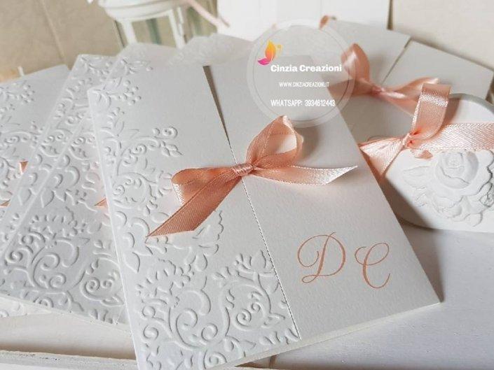 Partecipazioni Eleganti Matrimonio.Partecipazioni Matrimonio Eleganti Personalizzabili Cinzia