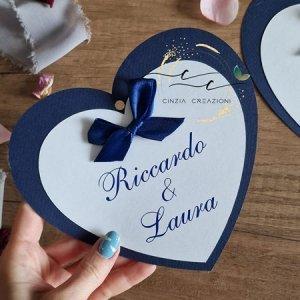 cartellini tableau matrimonio cuore