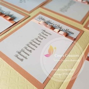 cartellini tableau matrimonio fiocchetto