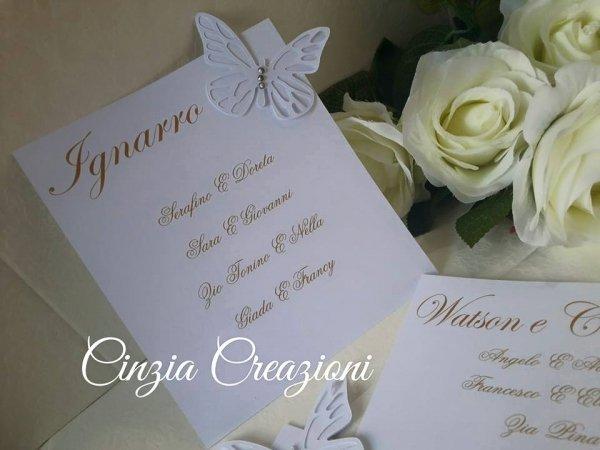 cartellino tableau mariage farfalla