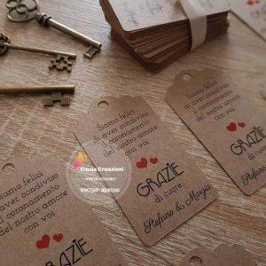 Etichetta matrimonio personalizzabile tag