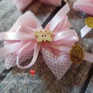 portaconfetti battesimo farfalla