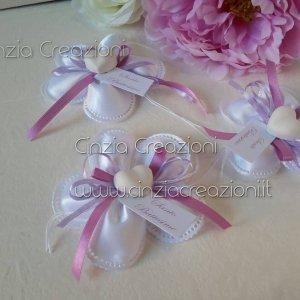 portaconfetti battesimo fiore petali