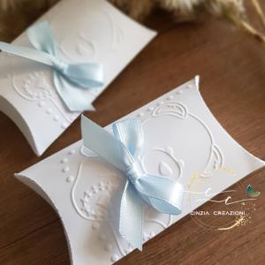 scatolina confetti battesimo orsacchiotto