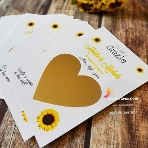 Lotteria Sposi tema girasoli