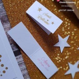 bigliettino confetti stella