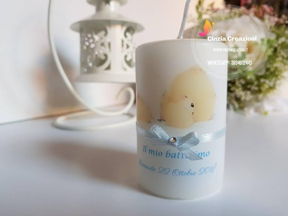 Favoloso candela battesimo orsetto personalizzabile | Cinzia Creazioni LU06