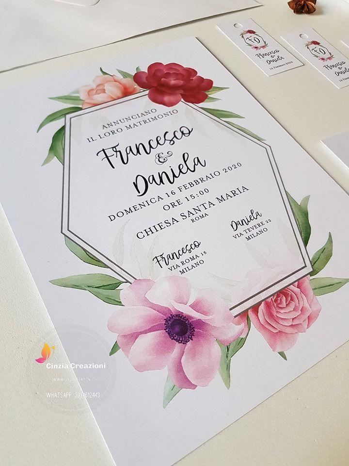 Foto Partecipazioni Matrimonio.Partecipazioni Matrimonio Orchidee Cinzia Creazioni