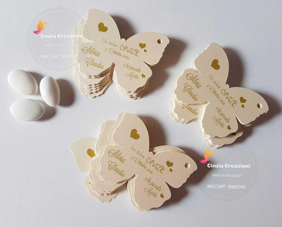 Farfalle Segnaposto Matrimonio.Segnaposto Farfalla Nozze Personalizzabile Cinzia Creazioni