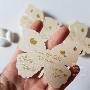 segnaposto farfalla nozze