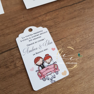 targhetta macchina sposi