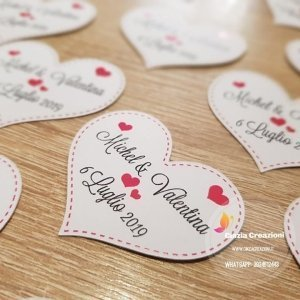 targhetta sposi cuore
