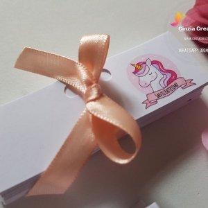 bigliettini bomboniera unicorno