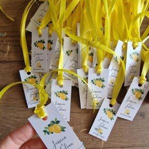 etichetta matrimonio tema limoni