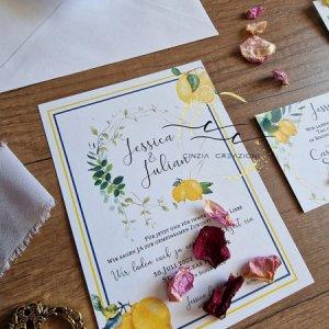 partecipazione matrimonio tema limoni