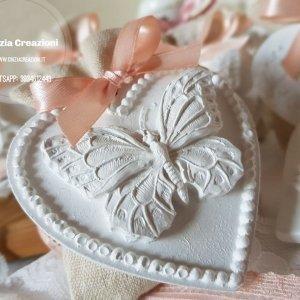 portaconfetti matrimonio farfalla gesso
